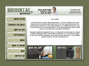 HVAC Website Design Example