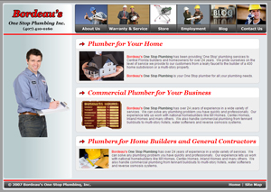 Plumbing Website Design Example