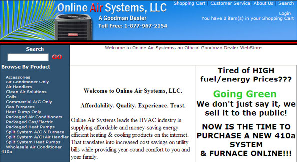 SEM & SEO for Online Air Systems